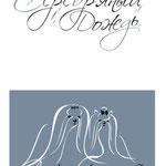 """Логотип питомника йорков и мальтезе """"Серебряный дождь"""", два цветовых варианта."""