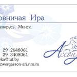 """Макет визитки для питомника цвергшнауцеров """"Ассон Ари""""."""