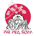 Логотип для питомника Рау Ред Болл, занимающегося разведением Чау-чау, шарпеев и шитцу.