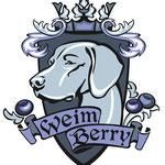 """Логотип для питомника веймаранеров """"Weim berry""""."""