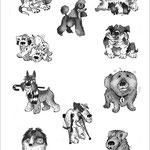 Эти весёлые картинки были нарисованы для ветеринарного сайта.
