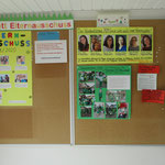 Im Eingangsbereich befinden sich alle wichtigen Informationen der Kita, des Elternausschusses und Fördervereins sowie aus Saarburg und Umgebung.