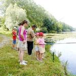 Initiation pêche pour le centre aéré de Méricourt sous Lens
