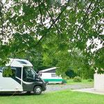 Espace d'accueil de Camping cars équipé pour alimentations et vidanges