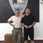 El Maestro M- Cañadillas junto a nuestro Presidente L. Ortiz Rojas