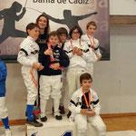Todos nuestros peques hicieron podium en su categoría en el V Torneo Carranza temporada 15/16