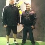 Nuestro Maestro junto a Jose M. Gonzalez Vicario 6ºdan taekwondo mu duk kwan