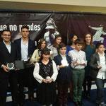 Algunos de los galardonados de la Sala en la II Gala Carranza 2015