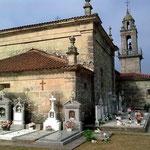 Die Rückseite der Kirche.