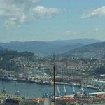 Meer und Hafen in Vigo