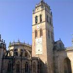 Die Rückseite der größten Kirche Santa María