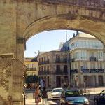 Blick und Weg zur Außenstadt, dann nach Vigo, Deutschland und Dessau.