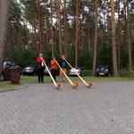 auch in den Ferien in Polen darf das Alphorn nicht fehlen...