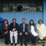El personal del Colegio:Diana,Sonia,Miguel,Marcia,Yolanda