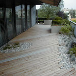 Lärchenholzbelag auf einer Dachterrasse