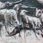 Schafe und Raben, 80/140 cm, 2017