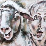 Die Schafe und ich, 150/50 cm, 2014