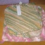 Initiation au tricot - fabrication de linges de comptoir
