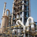 MAROC - Tour de préchauffage métallique, 100m de hauteur (charpentes, cheminées, supports matériel)