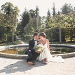 Hochzeitsfotos im Hofgarten in Veitsöchheim
