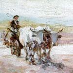 Nicolae Grigorescu: Ochsenkarren, 1899