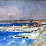 Theodor Aman: Hafen von Constanta, 1882