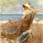 Nicolae Grigorescu: Frau am Meeresufer, 1881