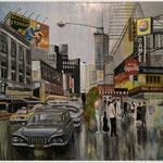"Acryl auf Leinwand 90x90cm im Schattenfugenrahmen "" NY 1925"""