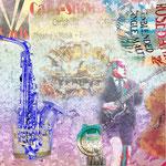 Carls Showpalast Collage auf Canvas