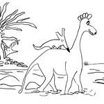 """Freitag, 17. April 2020, """"Ich nehm dich Huckpack, das ist einfacher durch das tiefe Wasser hindurch zu waten. Halte dich gut fest"""". Und auch Yenosaurolapus läuft am Ufer hinterher. Ob der kleine Elefant auch noch den Weg findet. Und Johnny?"""