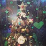 Arbolito de navidad de chocolate con dulce de leche