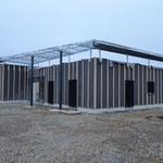 CMC Métallerie Avranches(50)-Ossature auvent acier galvanisé avant recouvrement