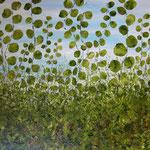 Öl , Papier auf 100% Leinwand    125 x 110 cm