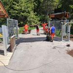Asphaltierarbeiten Eingang Waldbad