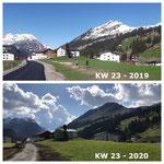 Schnee von gestern: Umfahrungstraße Anger 2019, Feld aufräumen. 2020 nach Rückbau