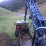 Drittleistung: Mist laden für Alpe Spullers, mit Steyr 6190 CVT