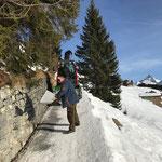 Weg Goldener Berg - Bergbahn splitten, mit Holder C70 SC