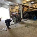 Eisenlieferung verräumen Lager Bauhof