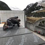 Flugdach Bauhof: Dachdecken