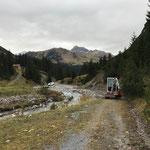 Baggerarbeiten aufgrund Hochwasserschäden Zürsbach