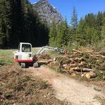 Aufräumarbeiten Birchet