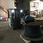 Stromkabel vorbereiten für Aufbau Arlberg Classic Car Rally
