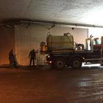 Tagwasserschächte spülen Tunnel Oberlech