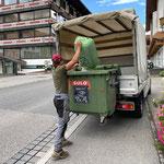 Mülldienst in Zürs