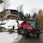 Schneestangen stellen Ebra, mit U530