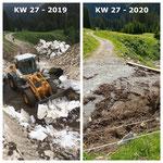 Schnee von gestern: Schneeräumung Schwobwannatobel Lechweg 2019