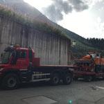 Rolba 1500 für Service ins Kleinwalsertal vorbereiten und verladen, mit U530
