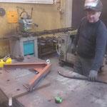 Holder Frontbeschwerung für Wegebau konstruieren und schweißen