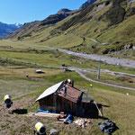 Hütte Flexenarena, Fertigstellung Dachhälfte 1