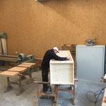 Seminartisch-Reparatur und Regalproduktion für sport.park.lech